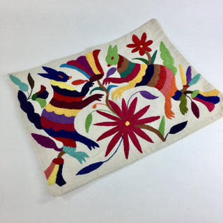 Otomi Hand Embroidered Pillow Covers, Multi-Colors - Zinnia Folk Arts