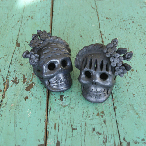 Black Clay Frida Kahlo Sculptures - Zinnia Folk Arts