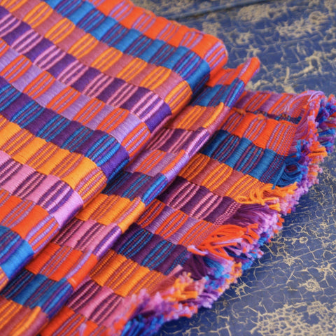 Double Sided  Cotton Table Runners, Various Colors,  Chiapas - Zinnia Folk Arts