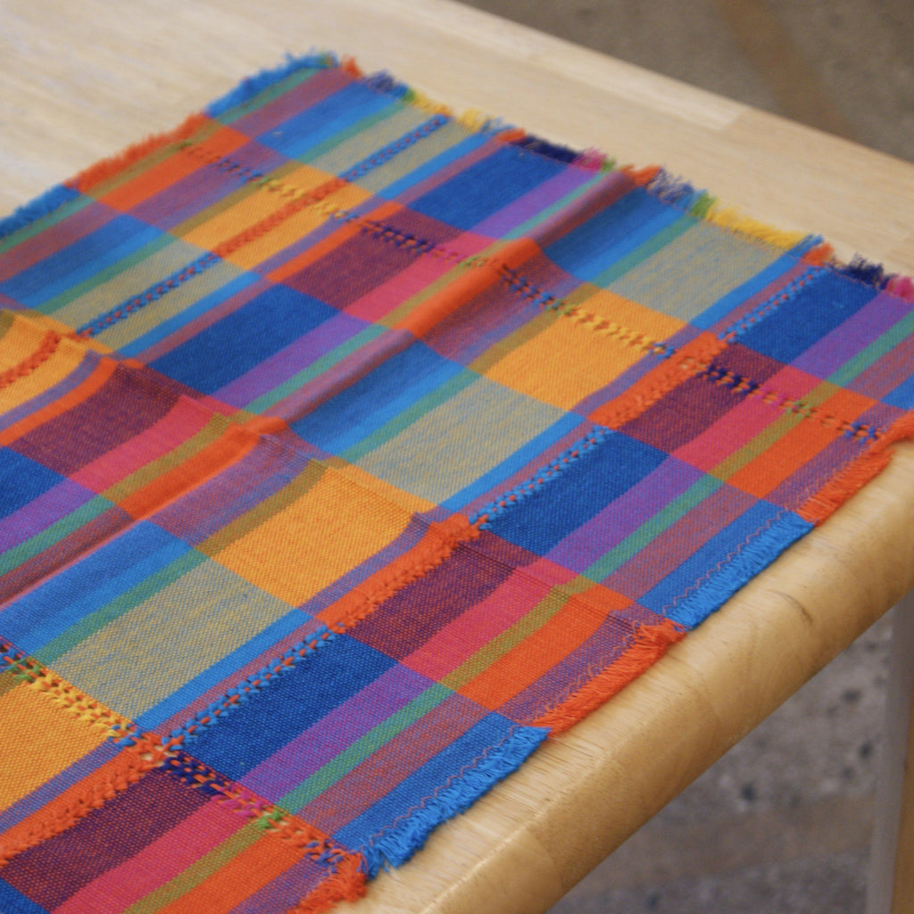 Sets of Handwoven Cotton Mexican Placemats - Zinnia Folk Arts