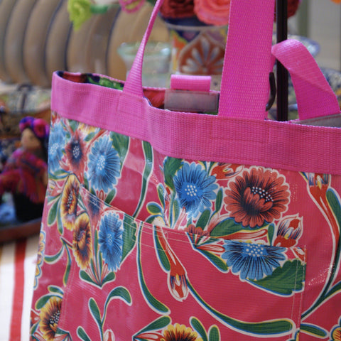Oil Cloth Beach Bags - Zinnia Folk Arts