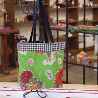 Small Oil Cloth Beach Bags - Zinnia Folk Arts