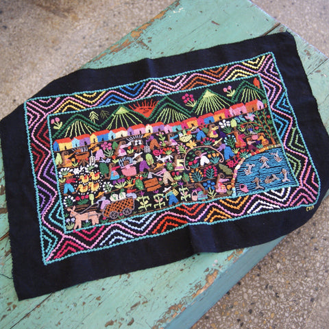 Michoacán Story Cloth Textiles - Zinnia Folk Arts