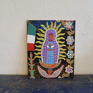 Whimsical Ocumicho Folk Art Painting on Masonite - Zinnia Folk Arts