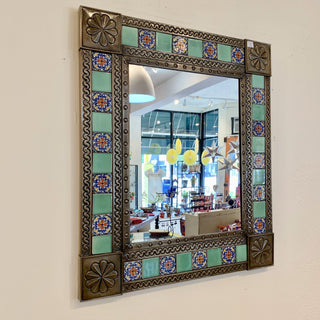 Tile and Tin Mirrors - Zinnia Folk Arts