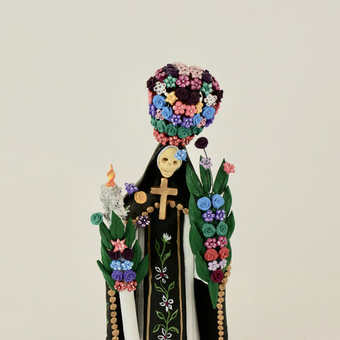 Mexican Clay Nun Catrinas by Family of Alvaro de la Cruz from Capula, Michoacan