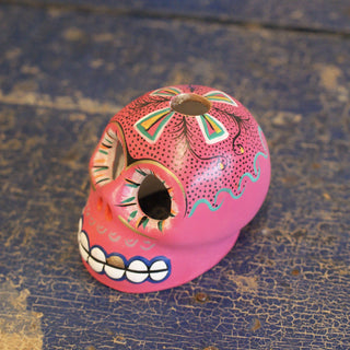 Painted Clay Day of the Skulls - Zinnia Folk Arts