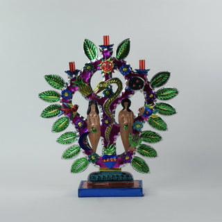 Cut and Painted Tin Tree of Life, Mexico City - Zinnia Folk Arts