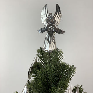 3-D Natural Tin Angel Ornaments - Zinnia Folk Arts