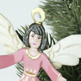 3-D Tin Angels, Matte Finish - Zinnia Folk Arts