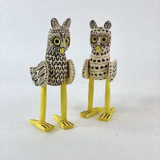 Oaxacan Wood Carvings, Owl Alebrije - Zinnia Folk Arts