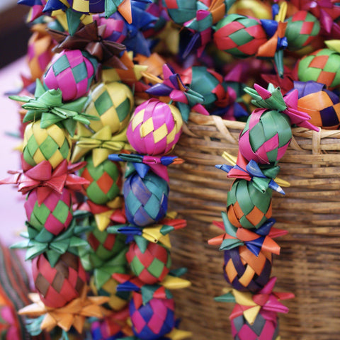 Fancy Decorative Woven Palma Garland String - Zinnia Folk Arts