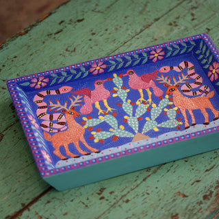 Folk Art Painted Wooden Trays from Oaxaca - Zinnia Folk Arts