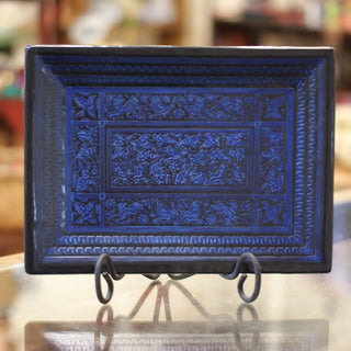 Incised and Lacquered Tray from Olínala, Guerrero - Zinnia Folk Arts