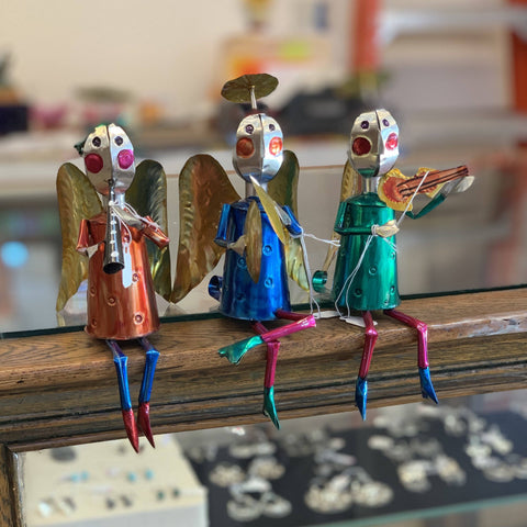 Sitting Tin Angel Musicians - Zinnia Folk Arts