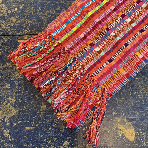 Vibrant Handwoven Mexican Cotton Striped Scarves - Zinnia Folk Arts