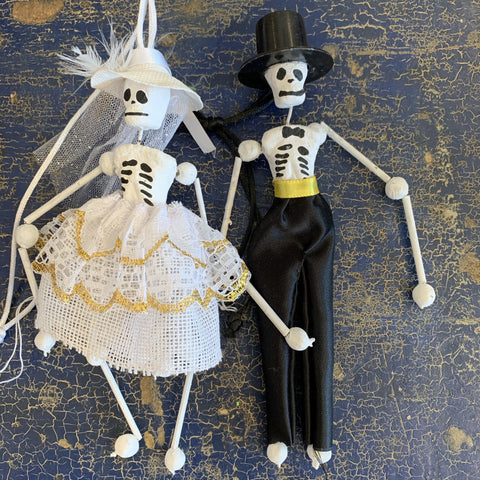 Jalisco Dressed Up Clay Brides, Catrinas and Catrins - Zinnia Folk Arts