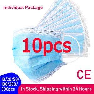 10/20/50/100/200/300pcs Surgica Medical Disposable Face Mask Wholesale
