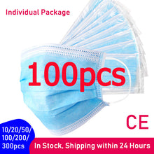 Load image into Gallery viewer, 10/20/50/100/200/300pcs Protective Disposable Face Mask with Individual Package Wholesale
