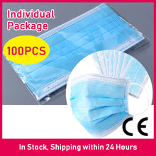 Load image into Gallery viewer, 100PCS Disposable Earloop Face Masks (Blue)