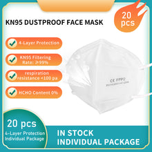 Load image into Gallery viewer, Reusable KN95/N9520PCS  Respirators and Surgical Masks (Face Masks) FDA