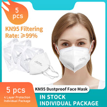 Load image into Gallery viewer, Reusable KN95/N955PCS  Respirators and Surgical Masks (Face Masks) FDA