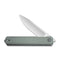 Exarch Front Flipper Knife Gray G10 Handle (3.22'' Satin D2) C 2003A