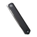 Exarch Front Flipper Knfie Black G10 Handle (3.22'' Satin D2) C 2003C
