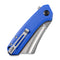 Mini Bullmastiff Flipper Knife Blue G10 Handle (2.97'' Stonewashed 9Cr18MoV) C 2004B