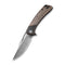 Dogma Flipper Knife Black Polished Copper Handle (3.46'' Black Hand Rubbed Damascus ) C2005DS-2