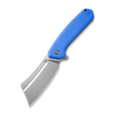 Bullmastiff Flipper Knife Blue Coarse G10 (3.83'' Stonewashed 9Cr18MoV) C 2006B