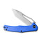 "Fracture Slip Joint Knife Blue G10 Handle (3.35"" Gray Stonewashed 8Cr14MoV Tanto) C2008D"
