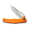 "Fracture Slip Jiont Knife  Orange G10 Handle (3.35"" Gray Stonewashed 8Cr14MoV Drop Point) C2009C"