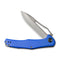 "Fracture Slip Jiont Knife  Blue G10 Handle (3.35"" Gray Stonewashed 8Cr14MoV Drop Point) C2009D"