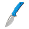 "Odium Flipper Knife Blue G10 Handle (2.65"" Stonewashed D2) C 2010C"