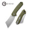 "Mini Mastodon OD Green G10 Handle (2.97"" Stonewashed 9Cr18MoV) C 2011A"