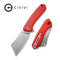 "Mini Mastodon Red G10 Handle (2.97"" Stonewashed 9Cr18MoV) C 2011B"