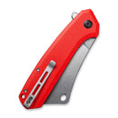 "Mastodon Flipper Knife Red Coarse G10 Handle (3.83"" Stonewashed 9Cr18MoV)  C 2012B"