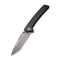 "Keen Nadder Flipper Knife Black Coarse G10 Handle (3.48"" Gray Stonewashed Bohler N690)  C 2021A"