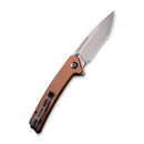 "Keen Nadder Flipper Knife Brown Micarta Handle (3.48"" Gray Stonewashed Bohler N690)  C 2021B"
