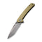 "Keen Nadder Flipper Knife Olive Micarta Handle (3.48"" Gray Stonewashed Bohler N690)  C 2021C"