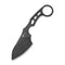Planck Fixed Blade Knife With 1 PC Kydex Sheath (2.87'' Black Stonewashed D2) C 2022B
