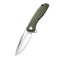 Baklash Flipper Knife OD Green G10 Handle (3.5'' Satin 9Cr18MoV) C 801A