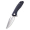 Baklash Flipper Knife Black G10 Handle (3.5'' Satin 9Cr18MoV) C 801C