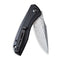 Baklash Flipper Knife Black G10 Handle (3.5'' Damascus) C 801DS