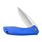 Baklash Flipper Knife Blue G10 Handle (3.5'' Satin 9Cr18Mov) C 801F