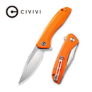 Baklash Flipper Knife Orange G10 Handle (3.5'' Satin 9Cr18MoV ) C801G