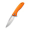 Baklash Flipper Knife Orange G10 Handle (3.5'' Satin 9Cr18MoV) C 801G