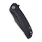 Baklash Flipper Knife Double Black G10 handle (3.5'' Black Stonewashed 9Cr18MoV) C 801H