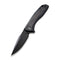 Baklash Flipper Knife Black G10 with Carbon Fiber Overlay Handle (3.5'' Black Stonewashed 9Cr18MoV) C 801I